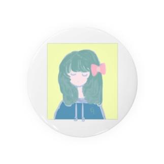 cool ribbon girl Badges