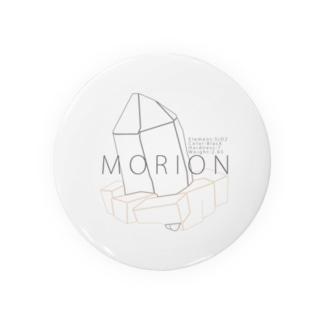 """モリオン(黒水晶) """"ラインイラストVer."""" Badge"""