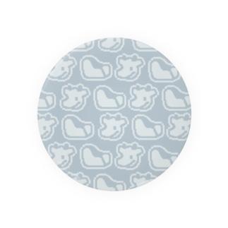 ドット絵シンプル牛 Tin Badge