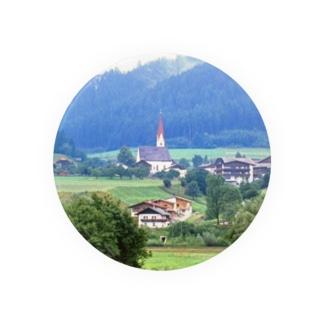 ドイツ:山岳地方の風景写真 Germany: view of a mountain village Badges