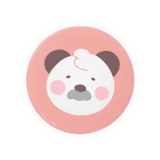 ゆるかわパンダのぱんすけくん(フェイスver.) ピンク Badges