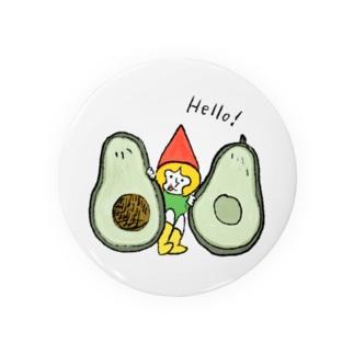 アボカドととんがり帽子 Badges