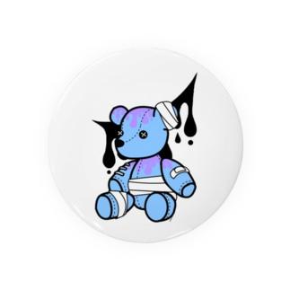 やみかわクマ(ブルー) Badges