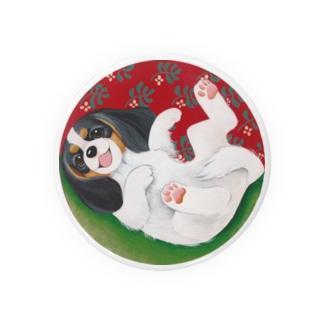 キャバリア in ボール(トライカラー) Badges