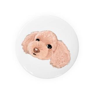 「保護犬カフェ支援」グッズ 琥珀さん プードル Badges