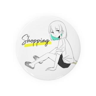 お買い物に行く女の子 Badges
