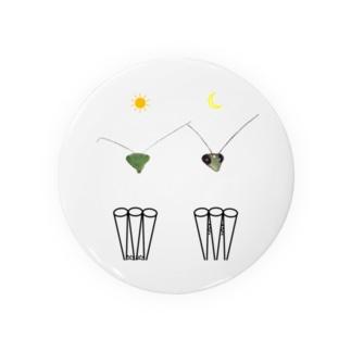 カマキリの昼と夜の複眼(絵文字、背景透過ver) Badge