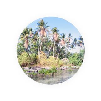 ミクロネシア:ナンマトル遺跡の風景写真 Micronesia: Nan Madol / Pohnpei Badges