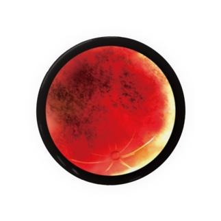 血染めの月/缶バッチ75mm Badge
