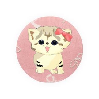 お座りスナネコ らいちちゃん🎀 Badges
