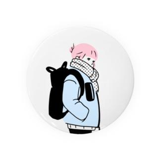 暖かそうな女性 Badges