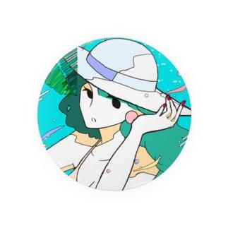summer - girl 缶バッジ