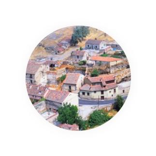 スペイン:セゴビア郊外の村の風景 Spain: view of a village near around Segovia Badges