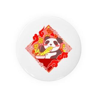 ラーメン食べてるパンダ Badges