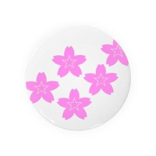 星桜紋(流れ星ピンク) Star cherry blossom Crest (Shooting star pink)) Badges