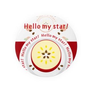 CT105 輪切りのリンゴ*bg Badge