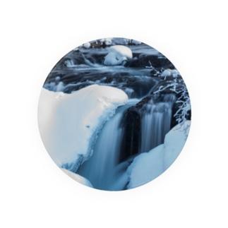 つばさ@フォトグラファーの氷流缶バッジ75mm.Ver1 Badges