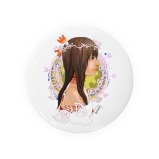 アメリカ大陸の少女B Badges