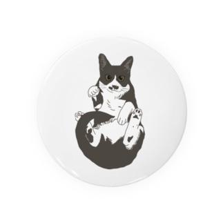 招き猫 ハチワレ Badges