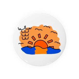 カモメの群れに紛れ込むマッチョの概念 Badges