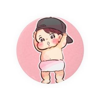 帽子をかぶった赤ちゃん Badges