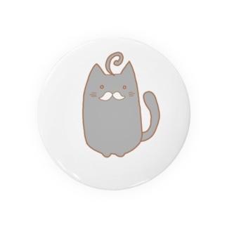 ひげねこ。(黒) Badges