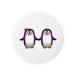 可愛いペンギンカップル Badges