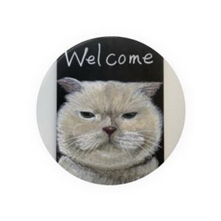全然welcomeじゃないwelcomeネコ Badges