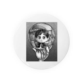 写像球体を持つ森邦子 Badges