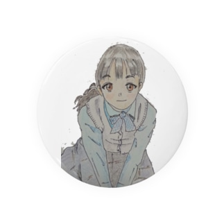上目遣い女の子 Tin Badge