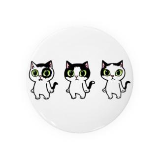 白黒猫の太郎三兄弟 Badges