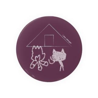 I am camper な ネコちゃん(赤) Badge
