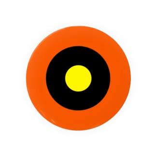 サークルa・オレンジ・黒・黄 Badges