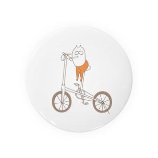ねこタイツと自転車 缶バッジ