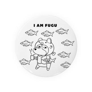 コーギー I AM FUGU Badges