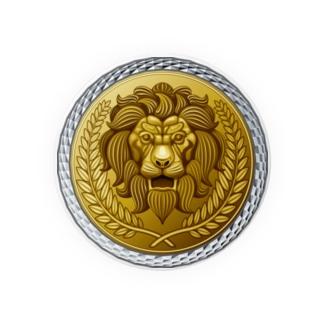 ゴージャスなライオンのレリーフ Badges