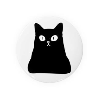 おにぎり型猫(黒猫) Tin Badge