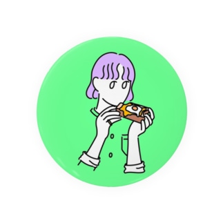 パン食べる女の子 Badges