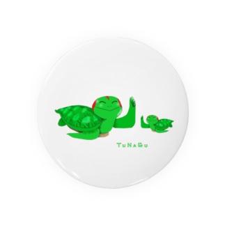 TUNAGU(各生地カラー対応版。ウミガメアカミミガメ親子) Badges