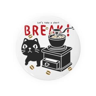 やみねこのコーヒー*st Tin Badge