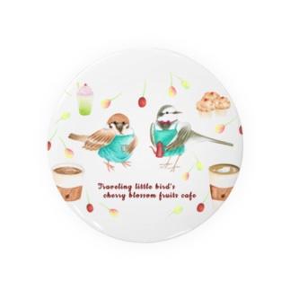 Prism coffee beanの旅する小鳥の桜の実カフェ Badges