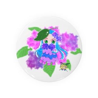 うるめめちゃん紫陽花 Badges