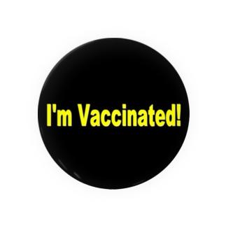 ワクチン接種済缶バッジ Badges