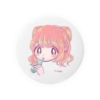 女の子とアイス Badges