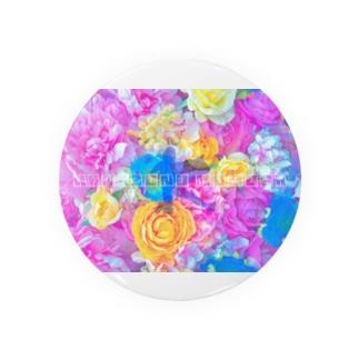 カラフル花園ロゴ Badges