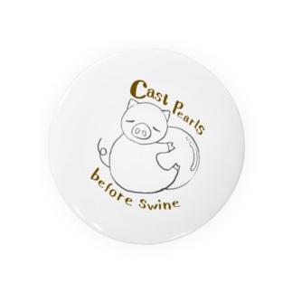 真珠に抱きついた豚さん。 Badges