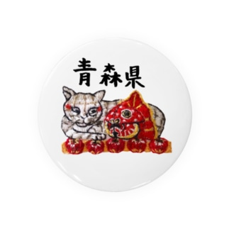 ご当地猫シリーズ_青森県 Tin Badge