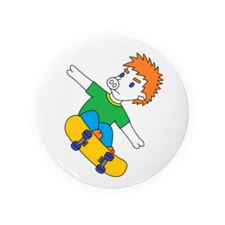 ジャンピングスケボピッグ Badge