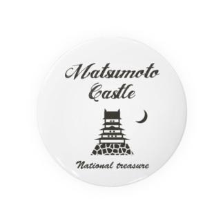ヴィンテージデザイン 松本城 #2 Badges