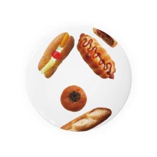 新デザインパンのパン文字 缶バッジ